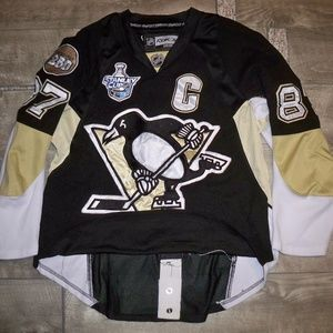 CCM Pittsburgh Penguins Sidney Crosby Jersey Sz 48